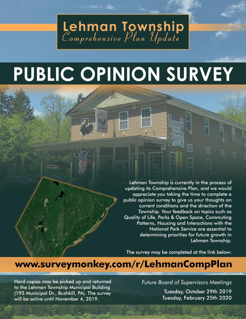 Lehman Twp_Public Survey Flyer